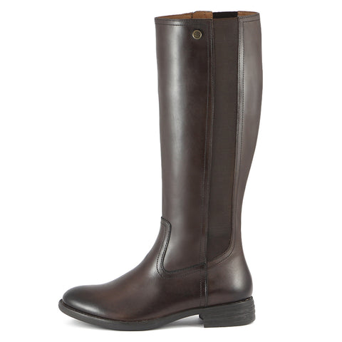 Trapani Elastic Knee-High Boots (Brown)