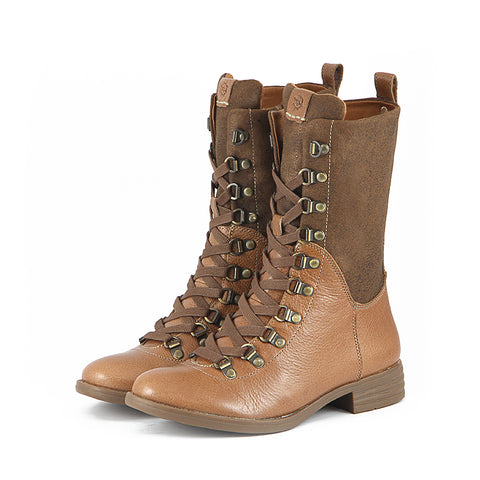 Trapani Combat Boots (Brown)