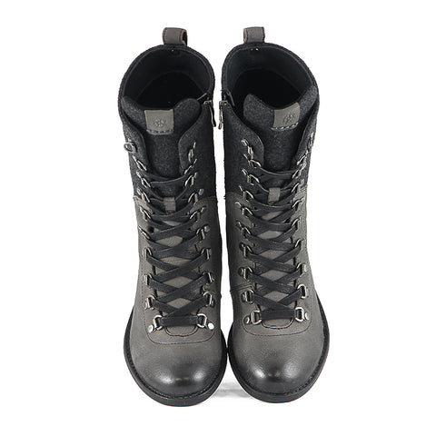 Trapani Combat Boots (Charcoal)