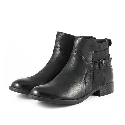 Trapani Elastic Ankle Boots (Black)