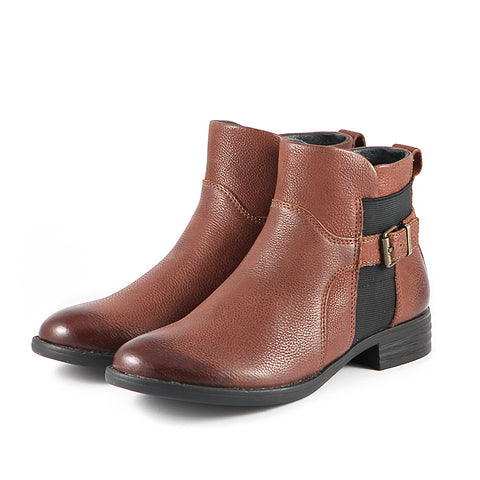 Trapani Elastic Ankle Boots (Russet)