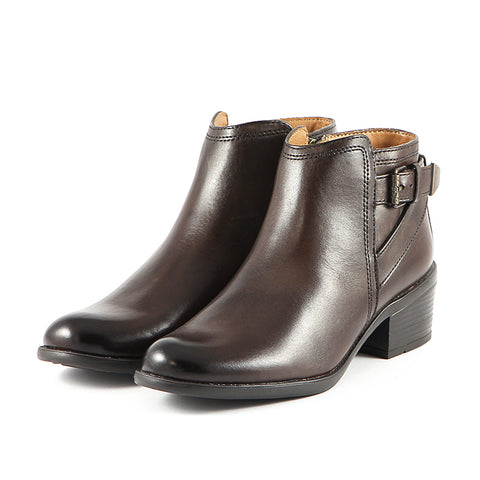 Antwerpen Straps Ankle Boots (Brown)