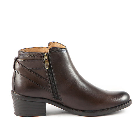 Final-Antwerpen Straps Ankle Boots (Brown)
