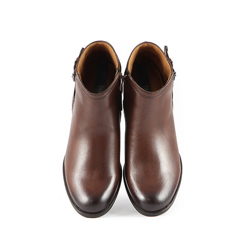 Final-Antwerpen Straps Ankle Boots (Russet)