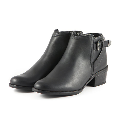 Antwerpen Water Repellent Straps Ankle Boots (Black)