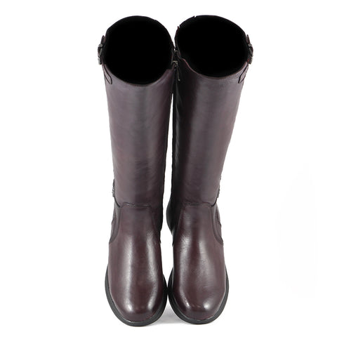 Antwerpen Knee-High Boots (Wine/Black)