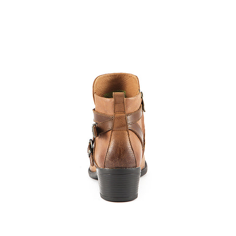 Antwerpen Cross Straps Ankle Boots (Luggage/Russet)