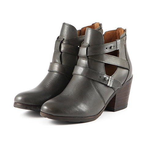 Reikiavik Cut Out Ankle Boots (Charcoal)
