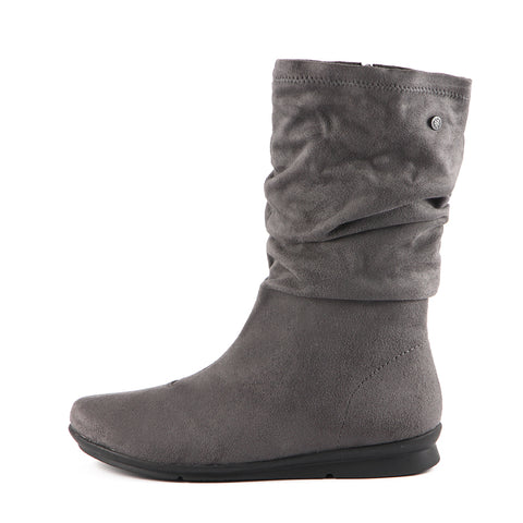 Coimbra Stretch Mid-Calf Boots (Charcoal)