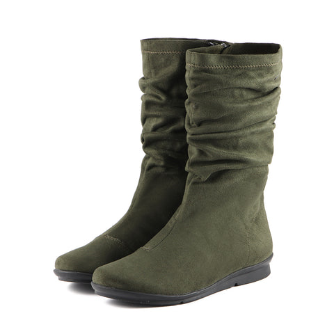 Coimbra Stretch Mid-Calf Boots (Military)