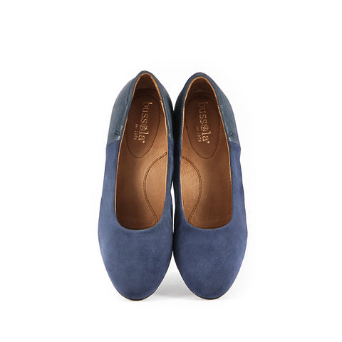 Barbados Block Heel Pumps (Navy)