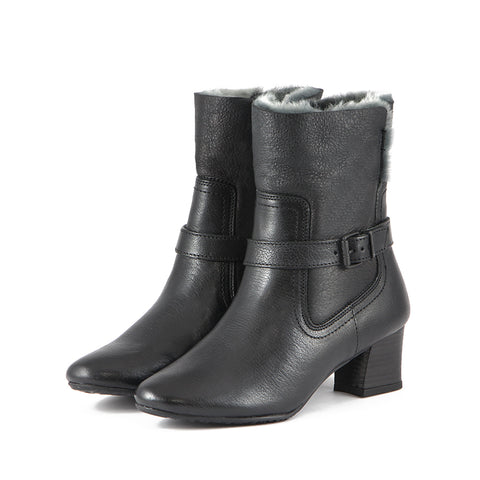 Barbados Double Face Ankle Boots (Black)