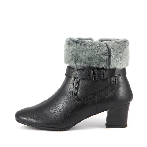 Final-Barbados Double Face Ankle Boots (Black)
