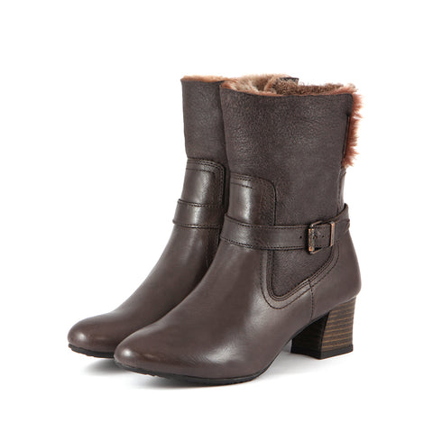 Final-Barbados Double Face Ankle Boots (Coffee)