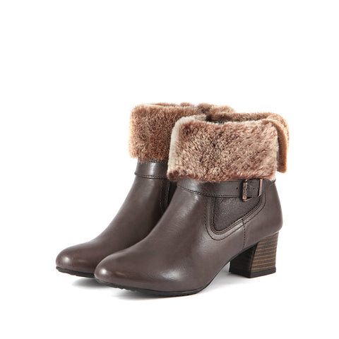 Barbados Double Face Ankle Boots (Coffee)