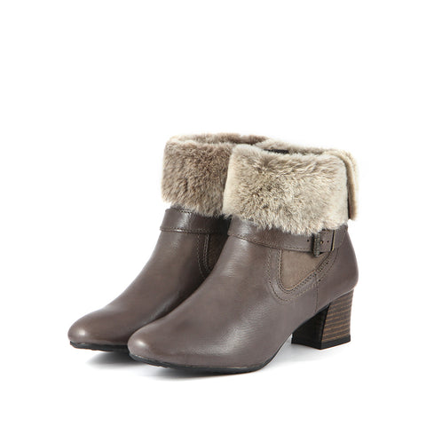 Barbados Double Face Ankle Boots (Taupe)