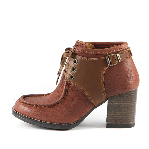 Final: Dawson Chunky Heel Lace-Up Ankle Boots (Russet)