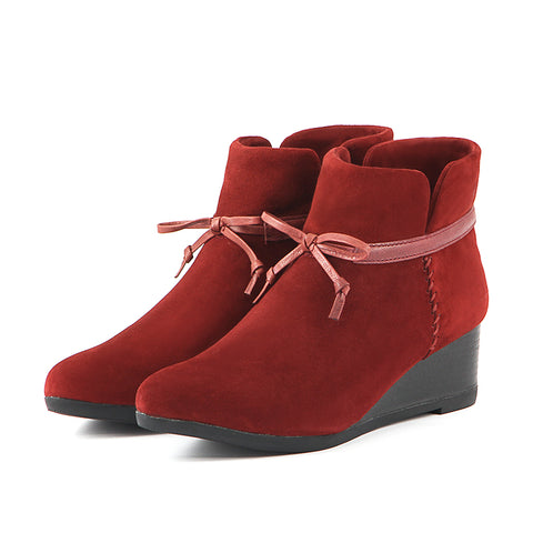Weyburn Bow Ankle Boots (Saffron)