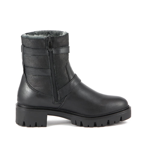 Regina Double Face Booties (Black)