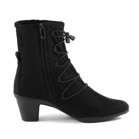 Teslin Stretch Ankle Boots (Black)