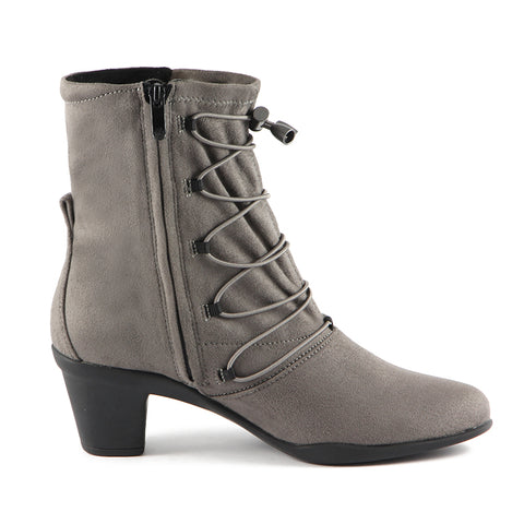 Teslin Stretch Ankle Boots (Taupe)