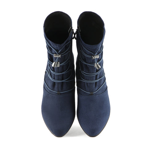 Teslin Stretch Ankle Boots (Navy)