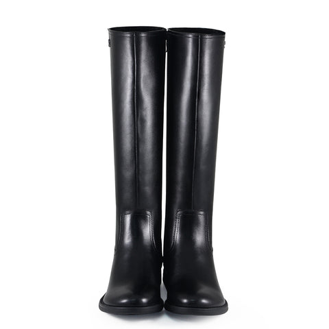 Trapani Elastic Knee-High Boots (Black)