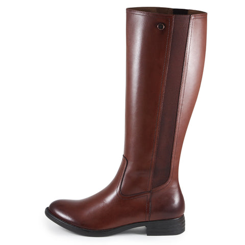Trapani Elastic Knee-High Boots (Russet)
