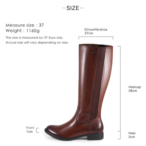 Trapani Elastic Knee-High Boots (Seal Brown)