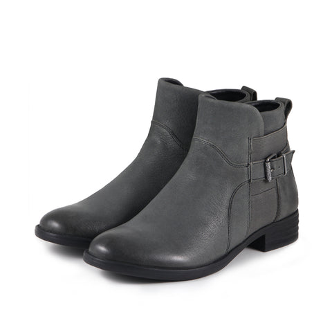 Trapani Elastic Ankle Boots (Charcoal)