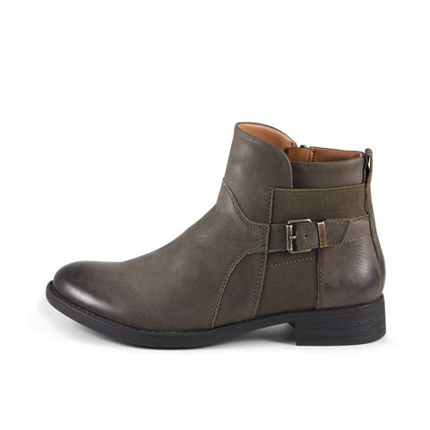 Trapani Elastic Ankle Boots (Military)