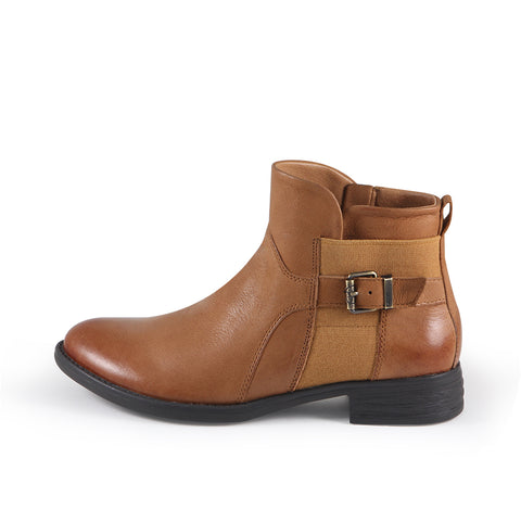 Trapani Elastic Ankle Boots (Cuoio)