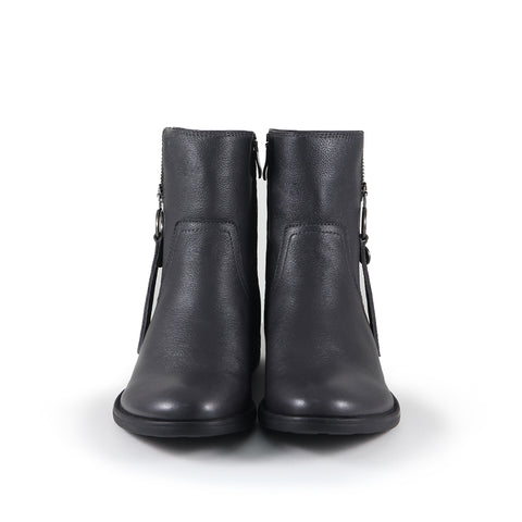 Trapani Zipper Ankle Boots (Charcoal)