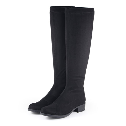 Siena Stretch Knee-High Boots (Black)