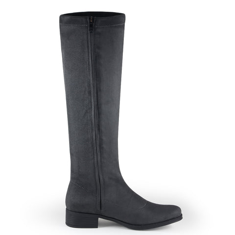 Siena Stretch Knee-High Boots (Charcoal)