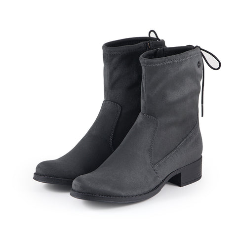 Siena Stretch Ankle Boots (Charcoal)