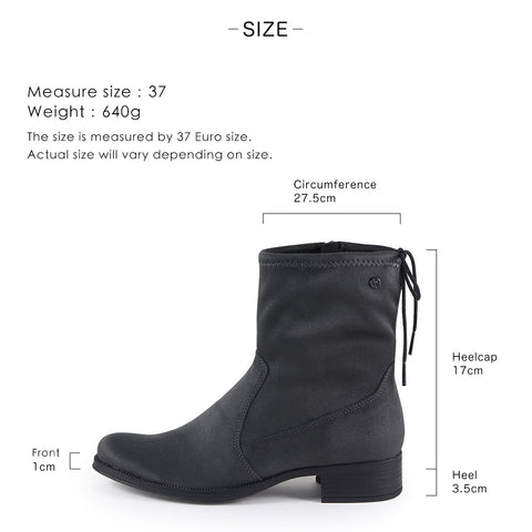Siena Stretch Ankle Boots (Black)