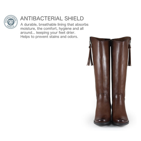 Siena Zipper Boots (Luggage)