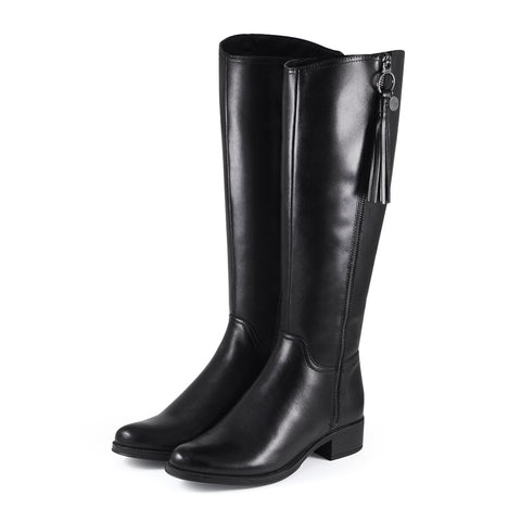 Siena Zipper Boots (Black)