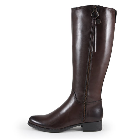 Siena Zipper Boots (Seal Brown)