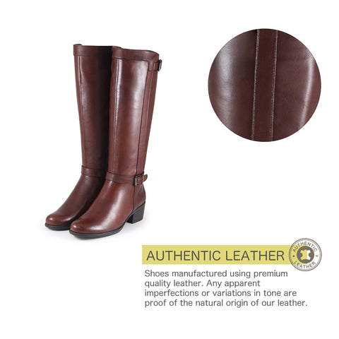 Antwerpen Knee-High Boots (Luggage)