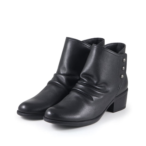 Antwerpen Snap Button Ankle Boots (Black)