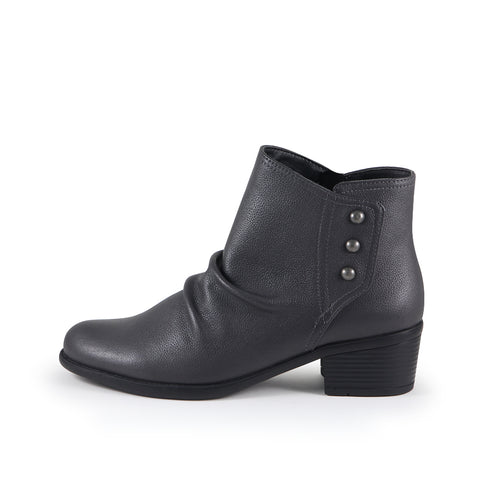 Antwerpen Snap Button Ankle Boots (Charcoal)