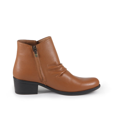 Antwerpen Snap Button Ankle Boots (Camel)