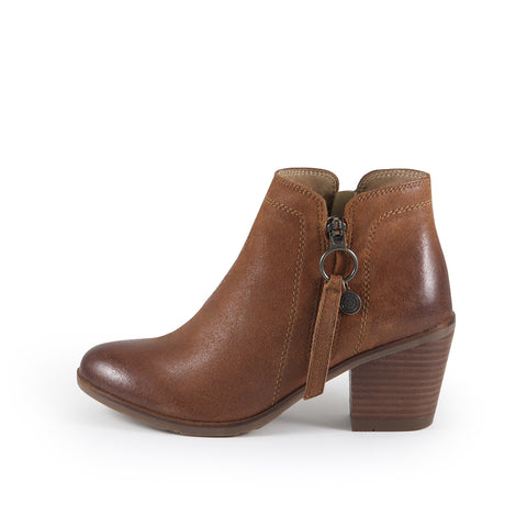 Reikiavik Zipper Ankle Boots (Cuoio)