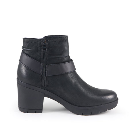 Bucharest Motorcycle Ankle Boots (Black)