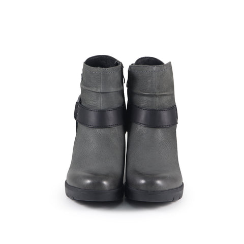 Bucharest Motorcycle Ankle Boots (Charcoal)