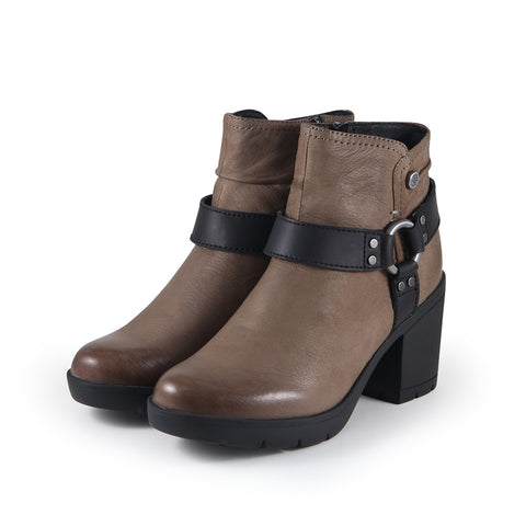 Bucharest Motorcycle Ankle Boots (Fossil)