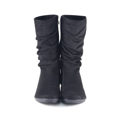 Coimbra Stretch Mid-Calf Boots (Black)