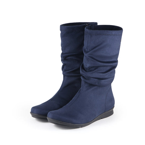 Coimbra Stretch Mid-Calf Boots (Denim)